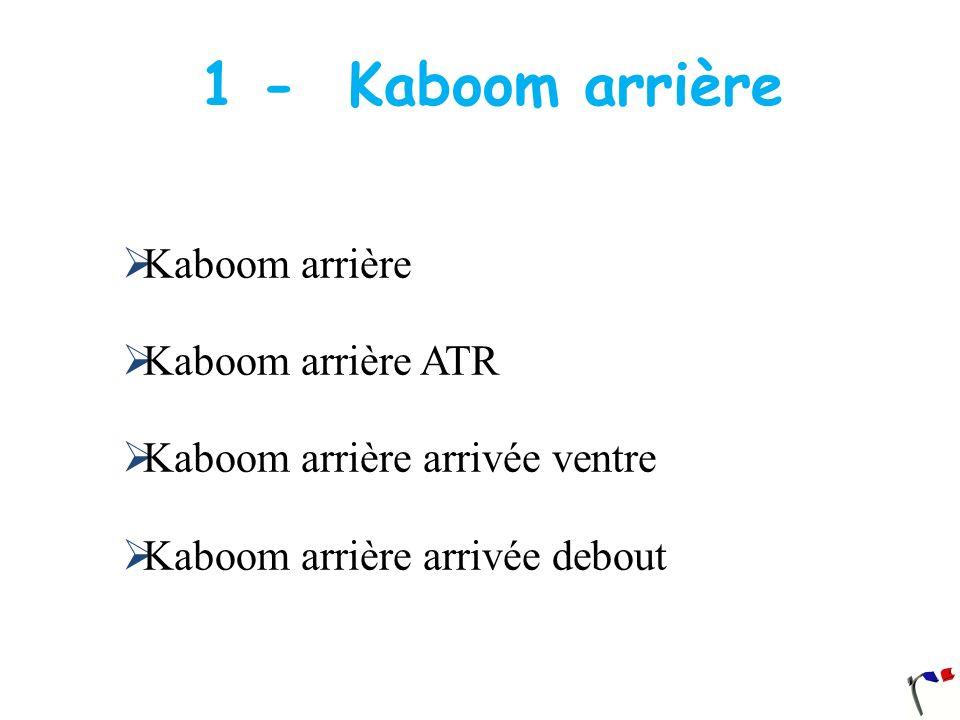 1 - Kaboom arrière Kaboom arrière Kaboom arrière ATR Kaboom arrière arrivée ventre Kaboom arrière arrivée debout