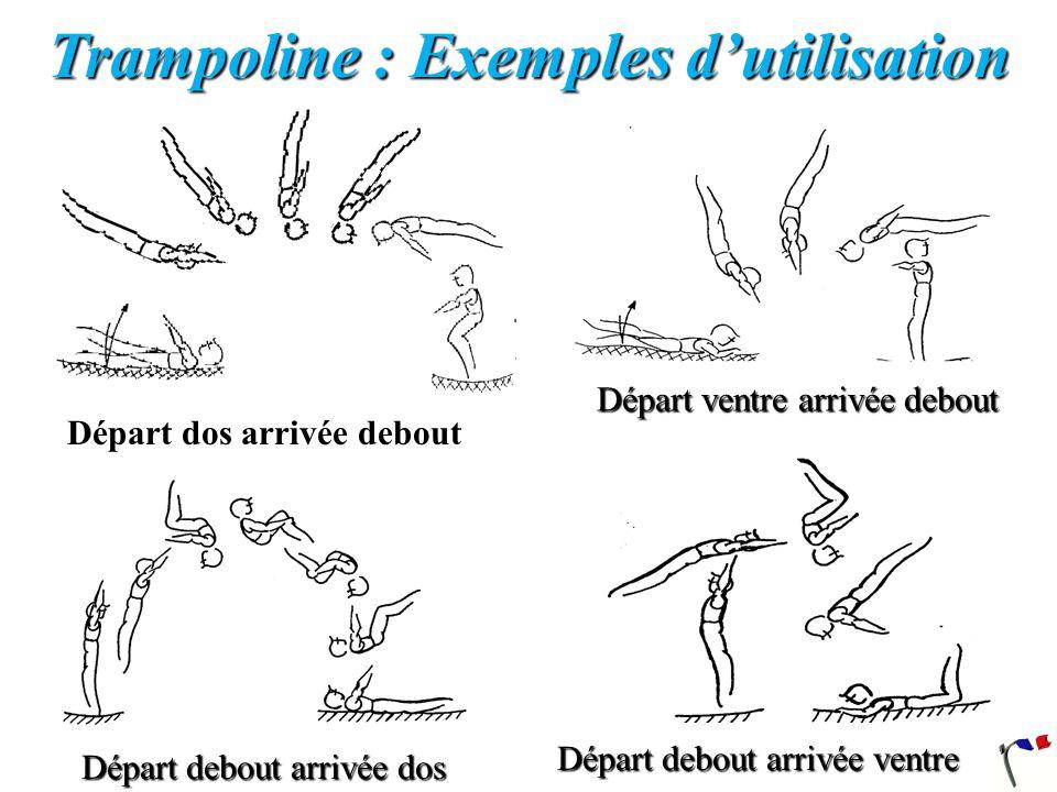 Salto avant corps tendu La position dans la toile et lélévation du corps sont identiques à la réalisation du salto avant groupé.