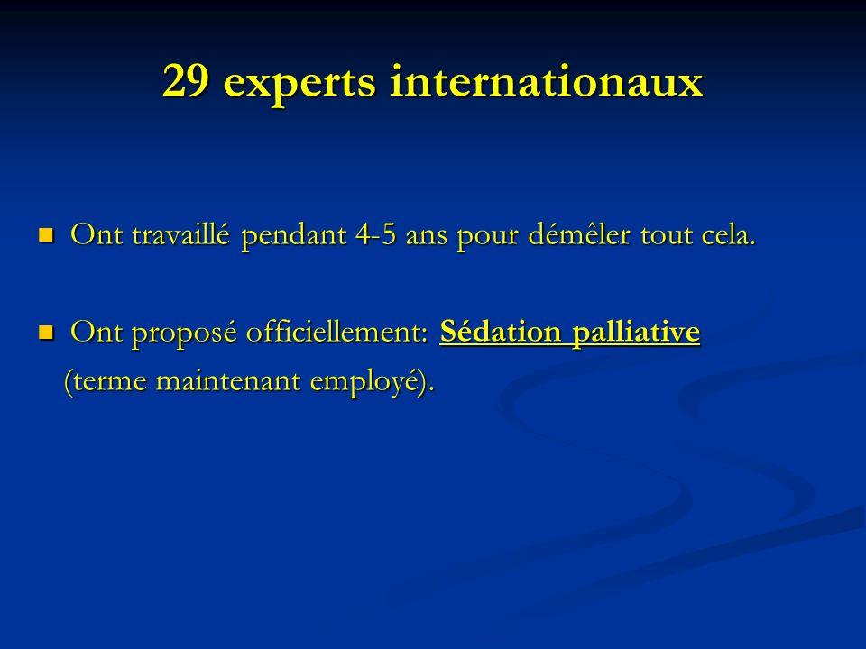 29 experts internationaux Ont travaillé pendant 4-5 ans pour démêler tout cela. Ont travaillé pendant 4-5 ans pour démêler tout cela. Ont proposé offi