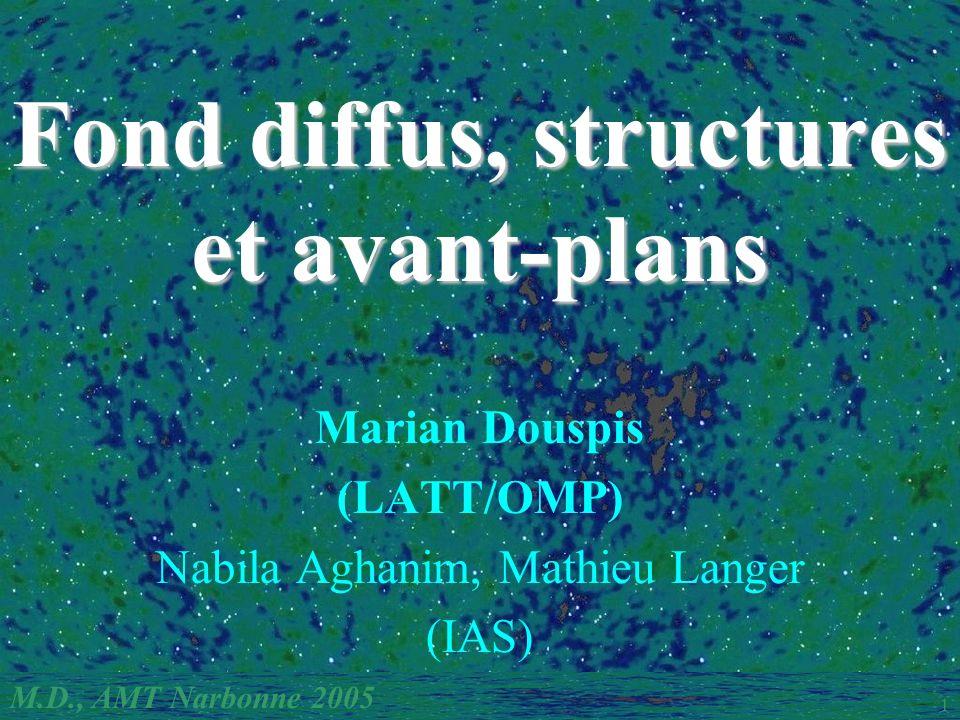 M.D., AMT Narbonne 2005 1 Fond diffus, structures et avant-plans Marian Douspis (LATT/OMP) Nabila Aghanim, Mathieu Langer (IAS)