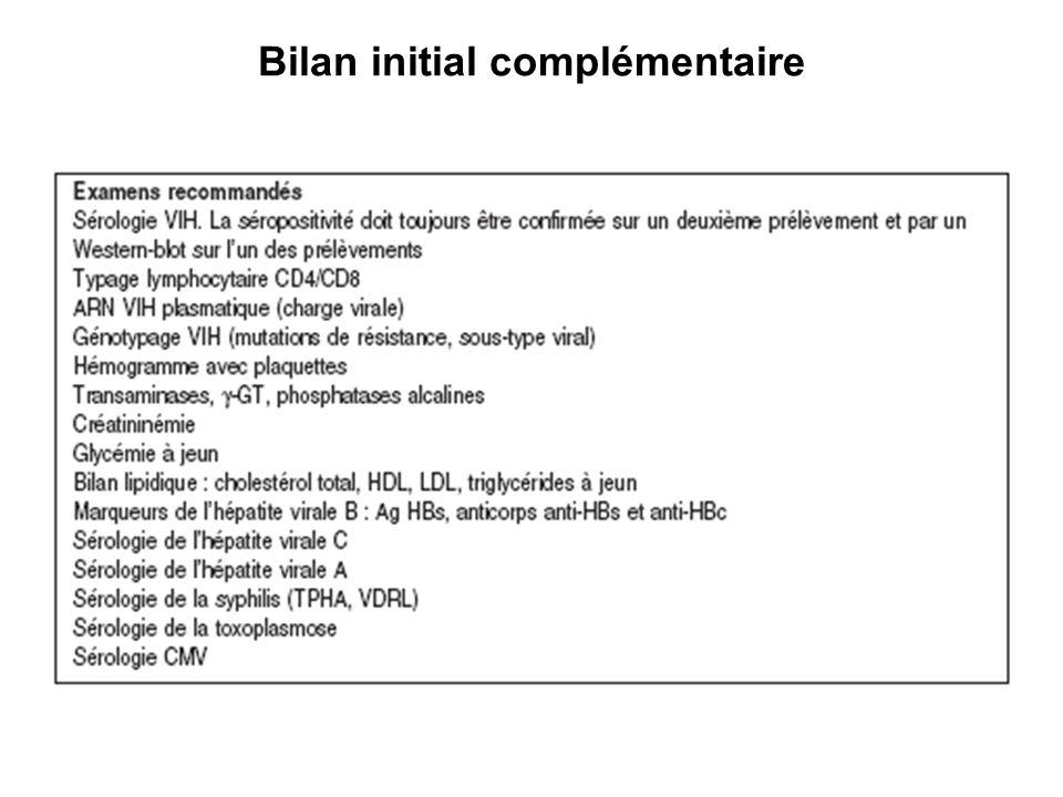 Bilan initial complémentaire