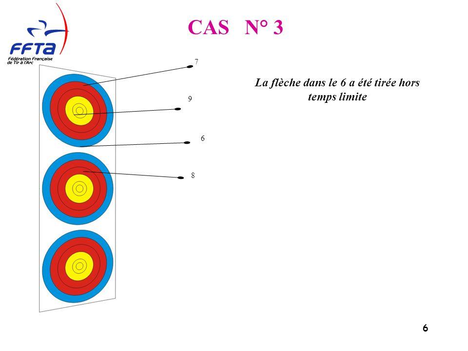 6 CAS N° 3 La flèche dans le 6 a été tirée hors temps limite 7 9 6 8