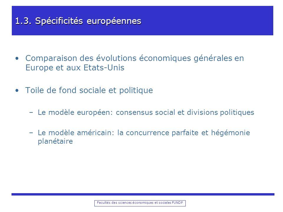 Facultés des sciences économiques et sociales FUNDP 1.3.