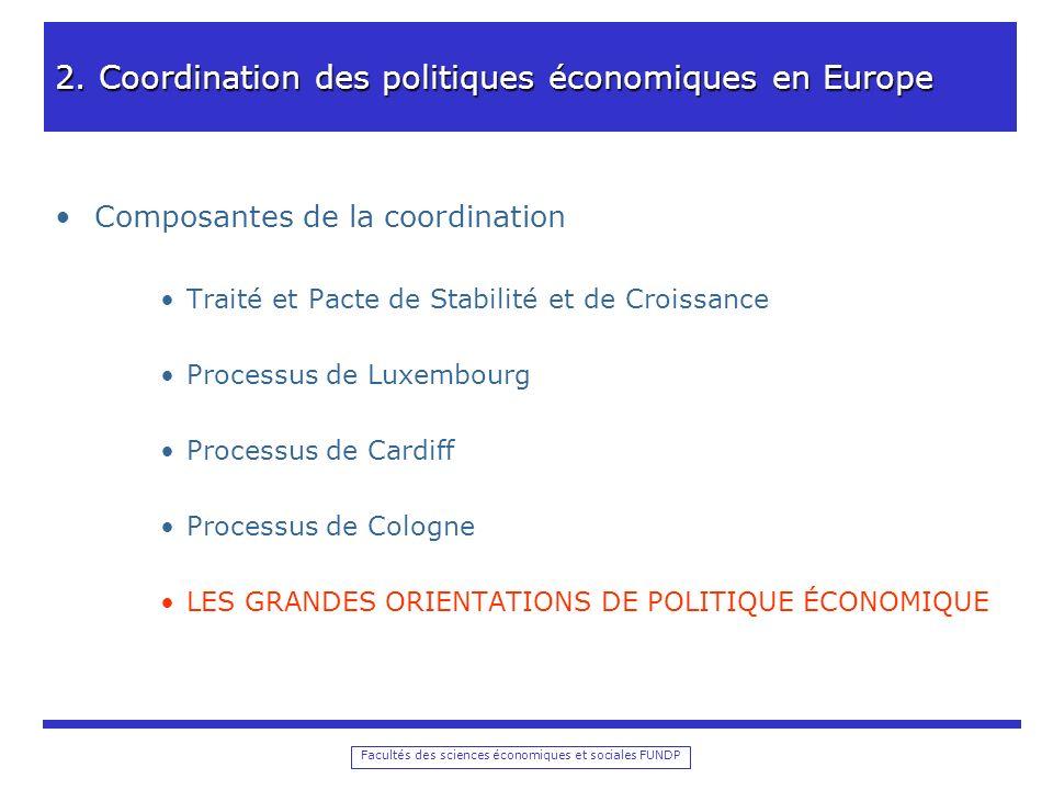Facultés des sciences économiques et sociales FUNDP 2.