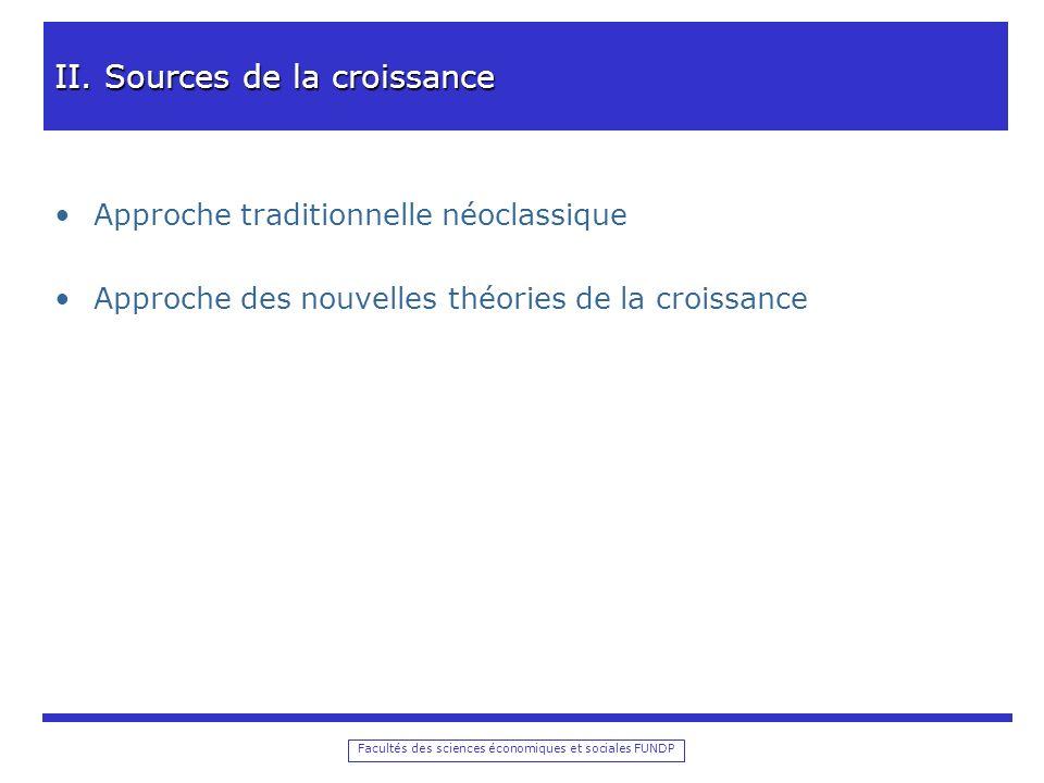 Facultés des sciences économiques et sociales FUNDP II.