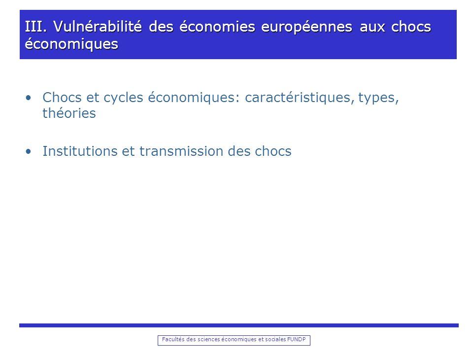 Facultés des sciences économiques et sociales FUNDP III.