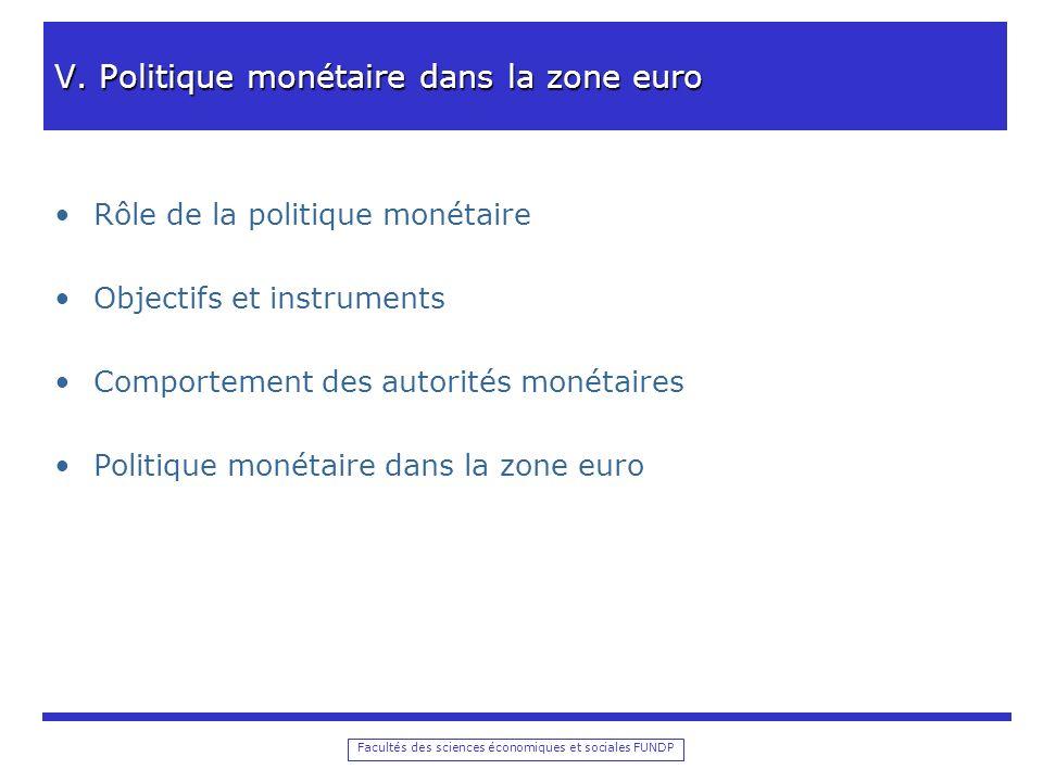 Facultés des sciences économiques et sociales FUNDP V.