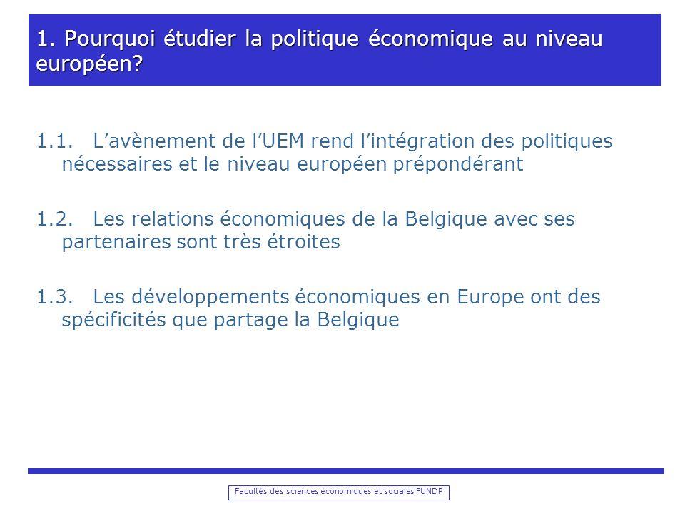 Facultés des sciences économiques et sociales FUNDP 1.
