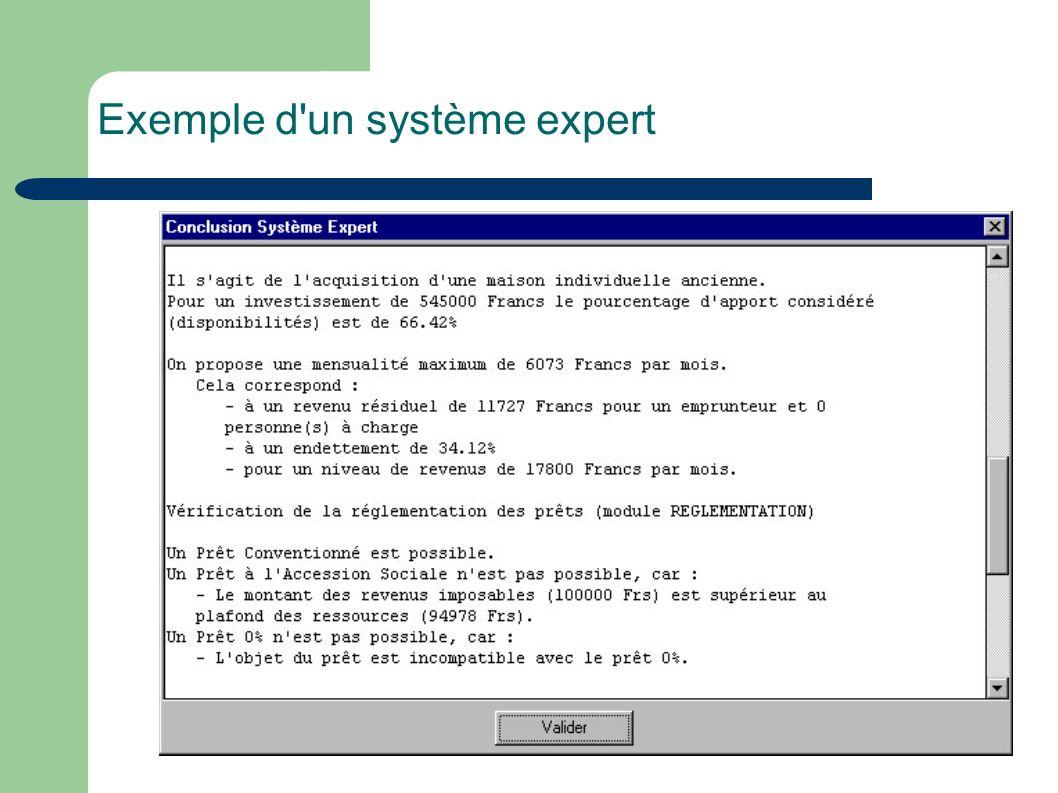 Exemple d'un système expert