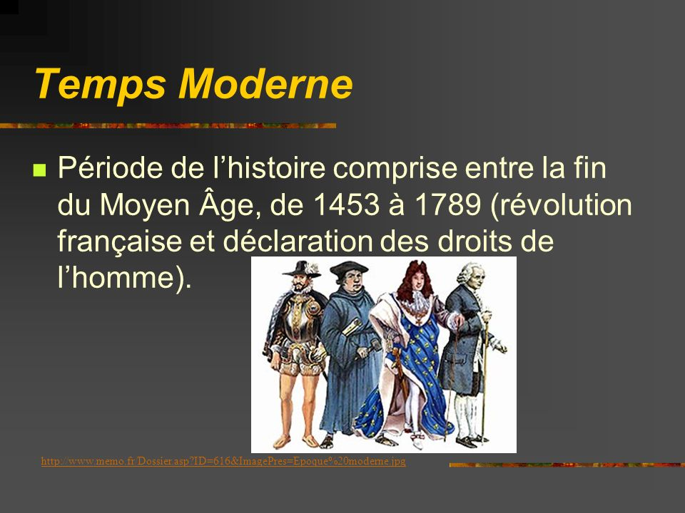 Moyen Âge Période de lhistoire européenne comprise entre lan 476 (chute de l Empire romain d Occident) et 1453 (chute de l Empire byzantin ou lEmpire romain dOrient)Empire romain d Occident1453Empire byzantin http://www.laurence-bar.com/page_moyen_age/encyclo_moyen_age.html