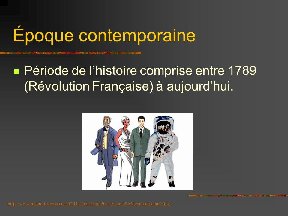 Temps Moderne Période de lhistoire comprise entre la fin du Moyen Âge, de 1453 à 1789 (révolution française et déclaration des droits de lhomme). http