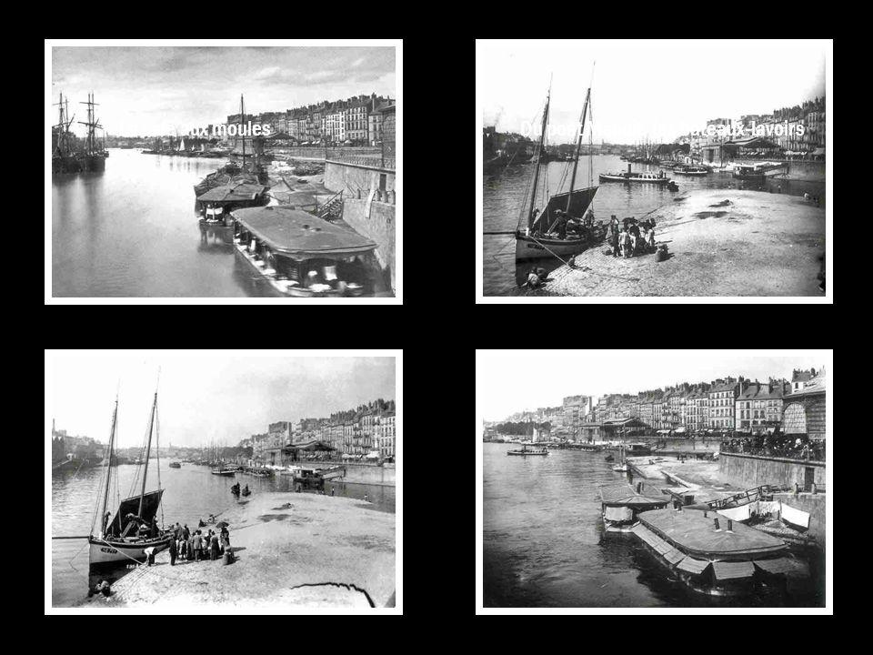 La cale aux moulesDu pont Maudit, les bateaux-lavoirs