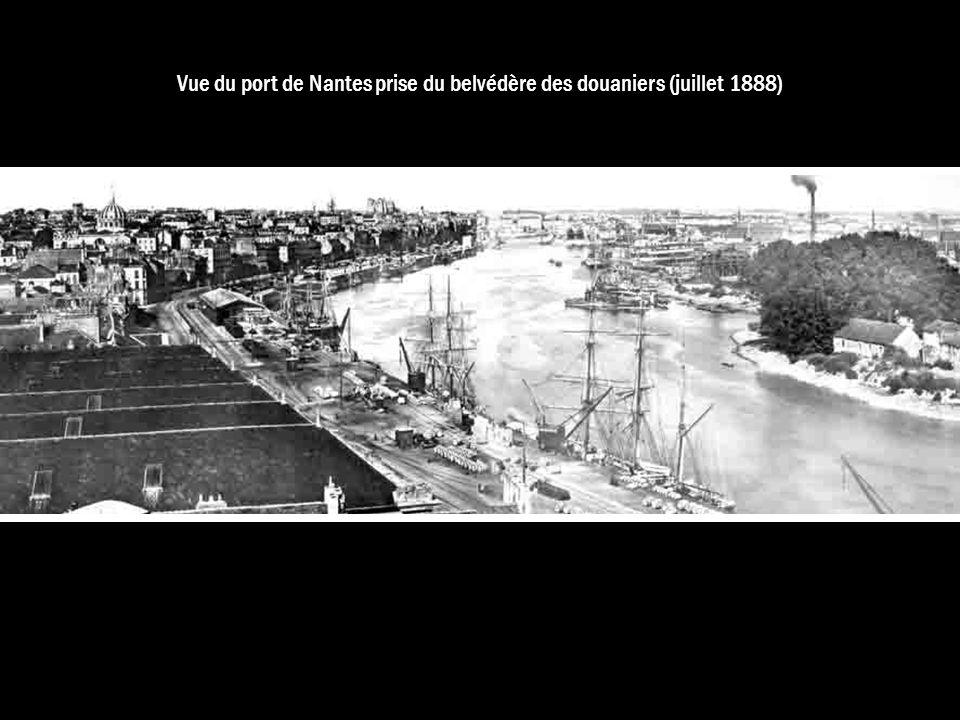 Vue du port de Nantes prise du belvédère des douaniers (juillet 1888)