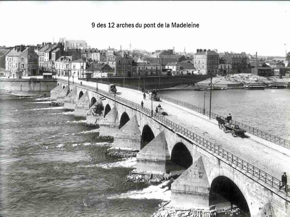 9 des 12 arches du pont de la Madeleine