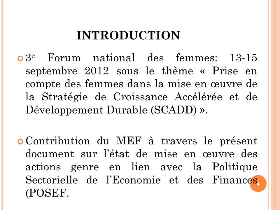 PRÉSENTATION DU MEF (1) 1.