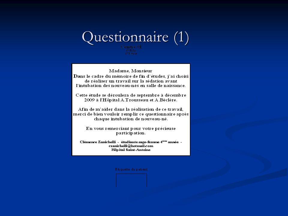 Questionnaire (1) Questionnaire (1)
