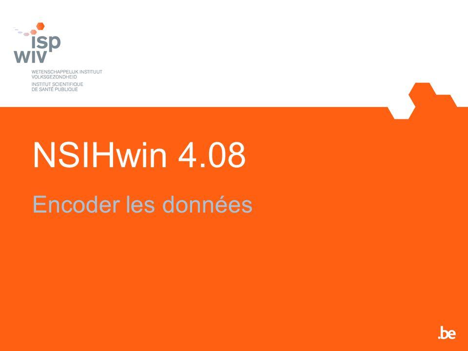 NSIHwin 4.08 Encoder les données