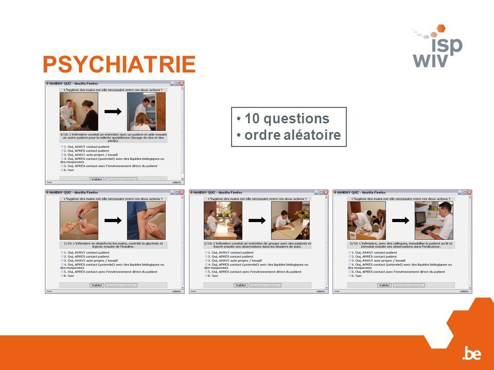 PSYCHIATRIE 10 questions ordre aléatoire