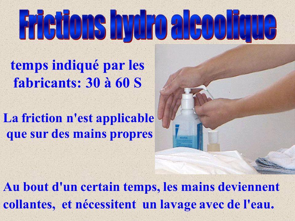 Au bout d un certain temps, les mains deviennent collantes, et nécessitent un lavage avec de l eau.