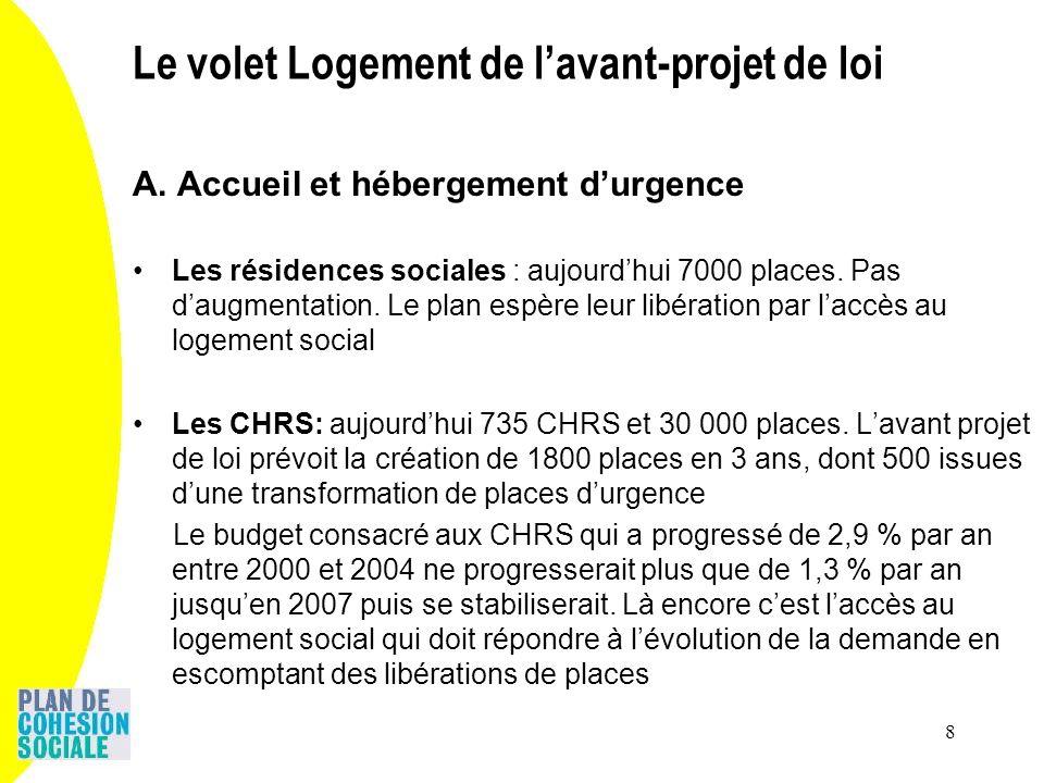 8 A. Accueil et hébergement durgence Les résidences sociales : aujourdhui 7000 places.