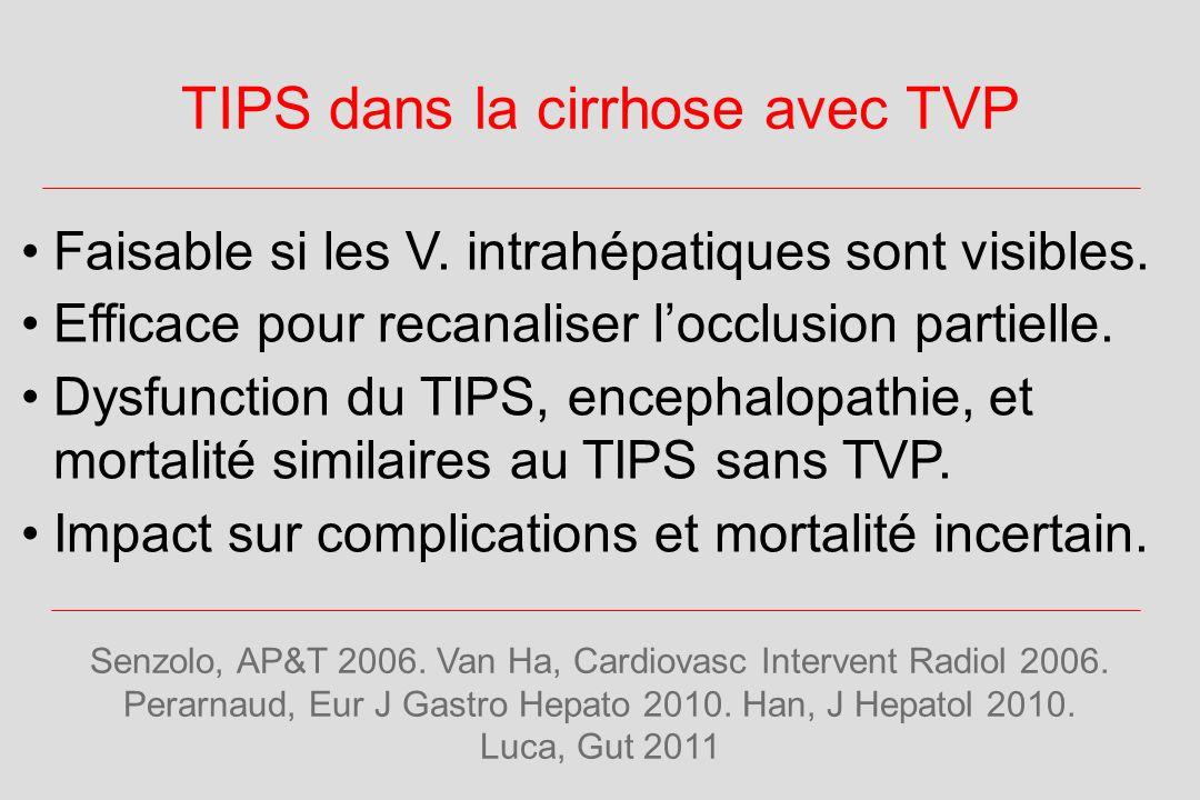 TIPS dans la cirrhose avec TVP Senzolo, AP&T 2006.