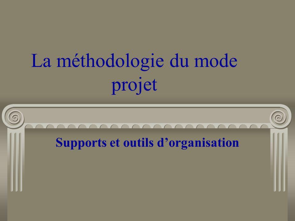 La méthodologie du mode projet Supports et outils dorganisation