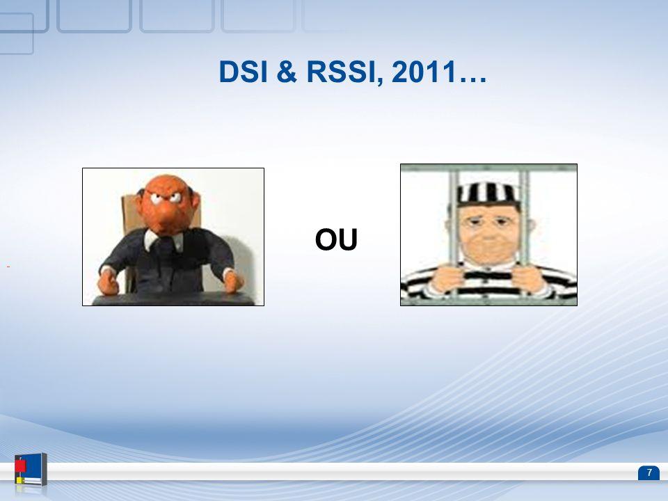 8 DSI et RSSI, des petits problèmes techniques à résoudre … 1.