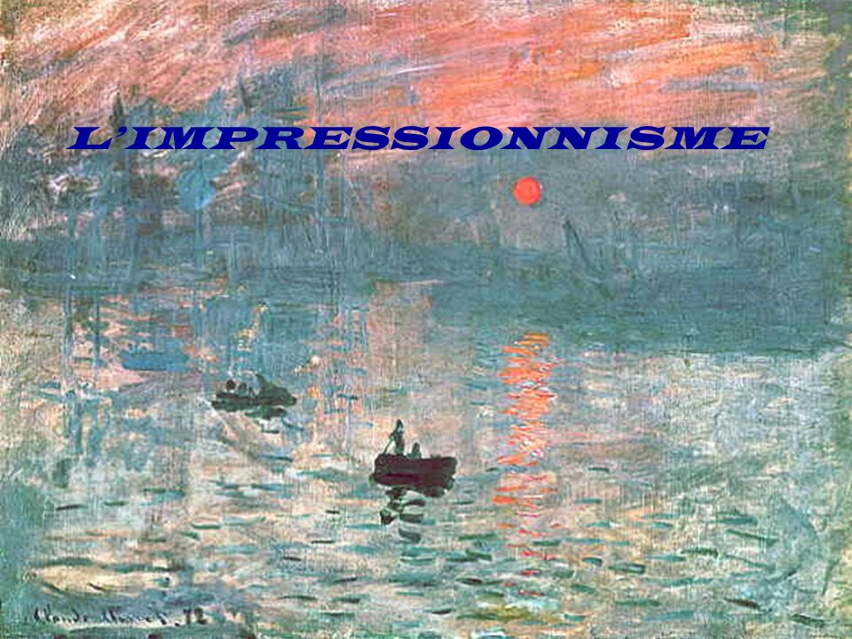 le STYLE la forme (représentation exacte) la lumière, la couleur (lidée, un instant éphémère) Avant lImpressionnisme
