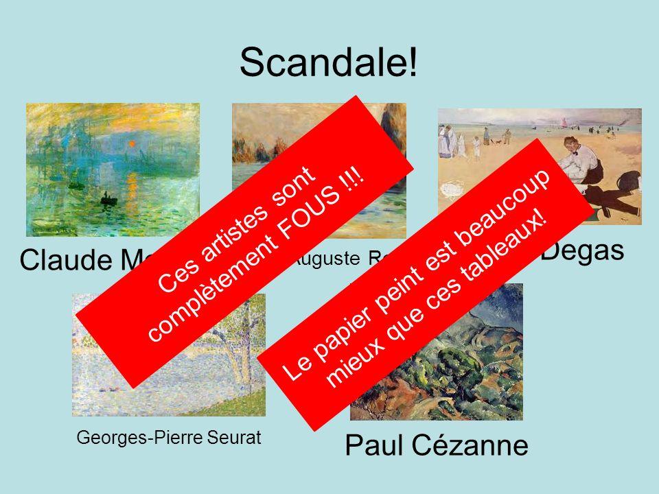 Scandale! Claude Monet Pierre-Auguste Renior Edgar Degas Georges-Pierre Seurat Paul Cézanne Ces artistes sont complètement FOUS !!! Le papier peint es