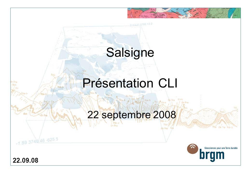 Salsigne Présentation CLI 22 septembre 2008 22.09.08