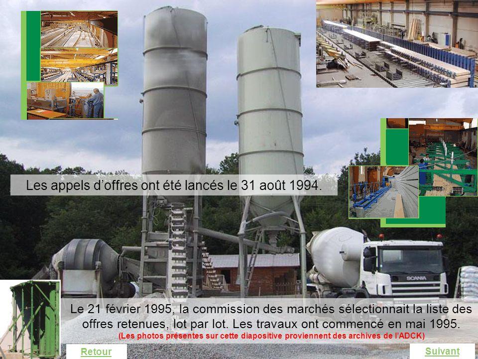 Industrialisation La démarche de projet industriel Les appels doffres ont été lancés le 31 août 1994. Le 21 février 1995, la commission des marchés sé