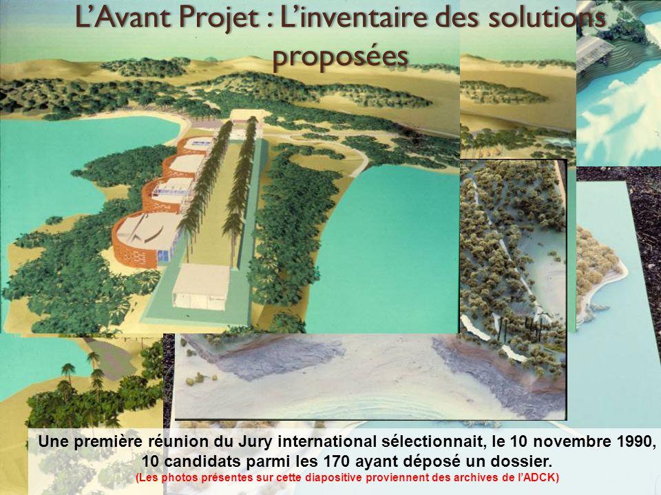 Le projet de l Architecte Renzo PIANO a été retenu par le Président de la République, Monsieur Mitterrand, et Mme TJIBAOU, au mois daoût 1991.