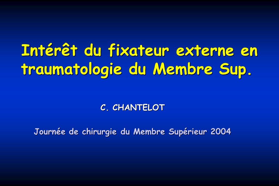 Intérêt du fixateur externe en traumatologie du Membre Sup.