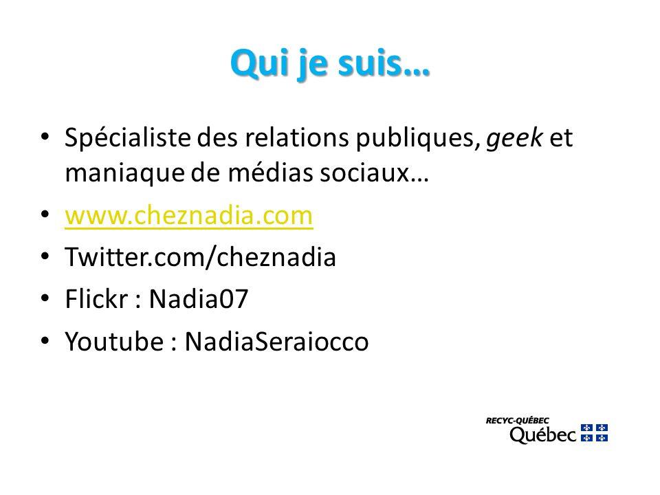 Projet-pilote : nos présences web twitter.com/recycquebec http://www.ustream.tv/channel/recyc-quebec Youtube : Chaîne RECYCQUEBEC Facebook : page RECYC-QUEBEC