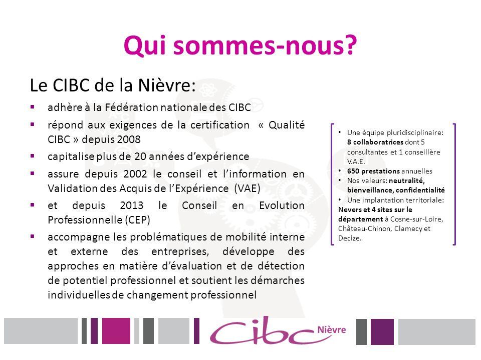 Qui sommes-nous? Le CIBC de la Nièvre: adhère à la Fédération nationale des CIBC répond aux exigences de la certification « Qualité CIBC » depuis 2008