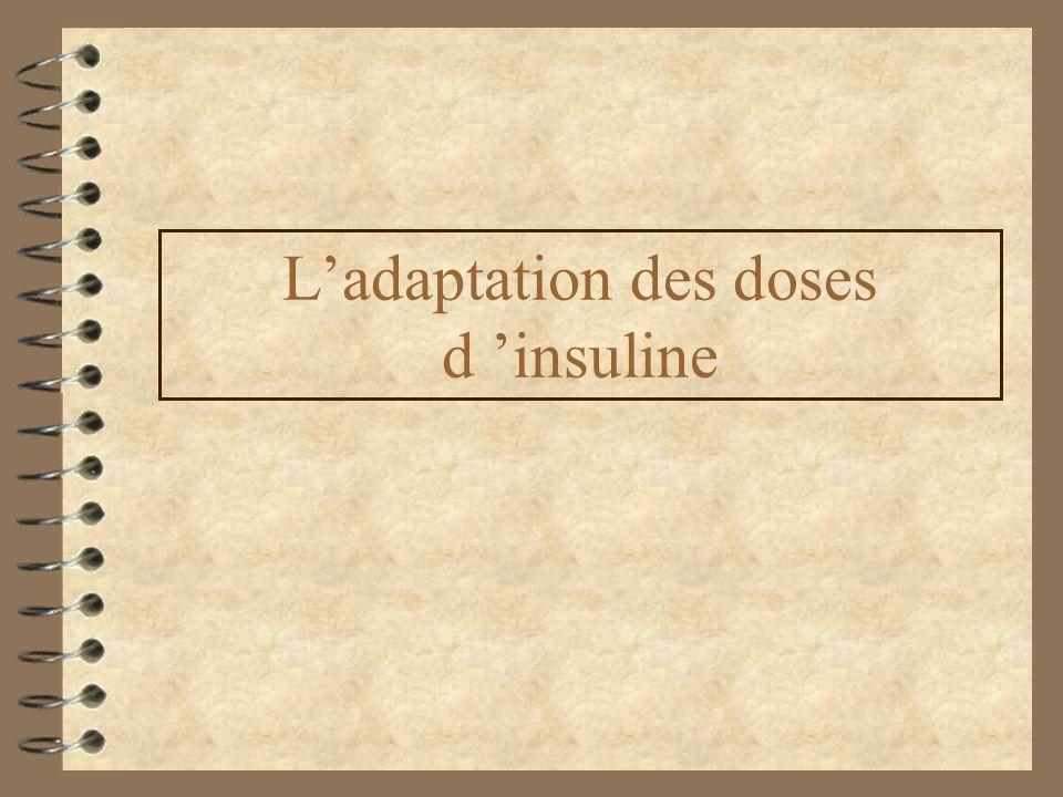 Ladaptation des doses d insuline