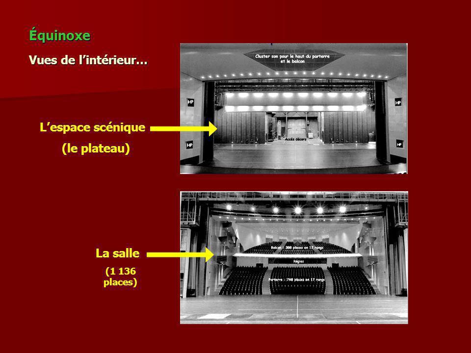 Vues de lintérieur… Lespace scénique (le plateau) La salle (1 136 places) Équinoxe