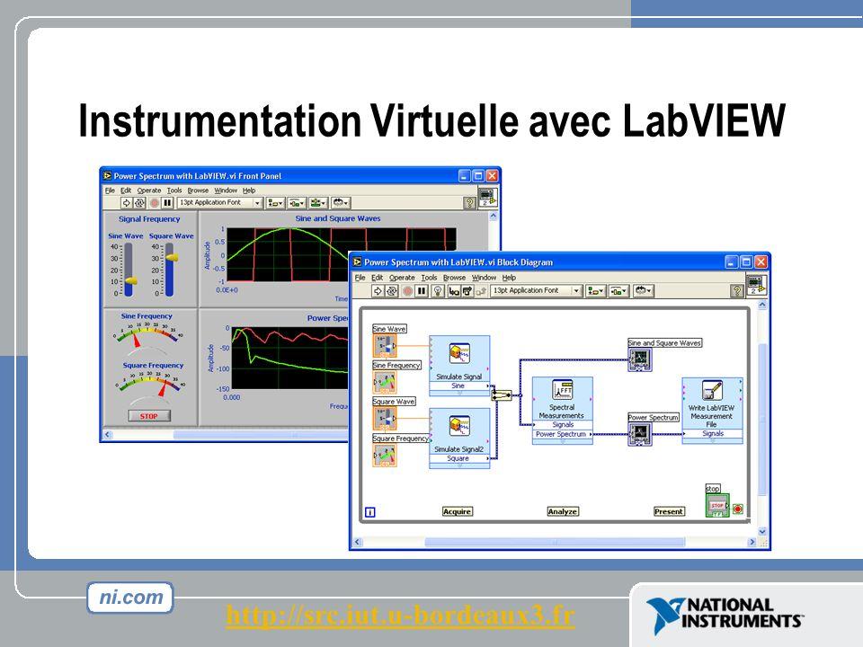 Instrumentation Virtuelle avec LabVIEW http://src.iut.u-bordeaux3.fr