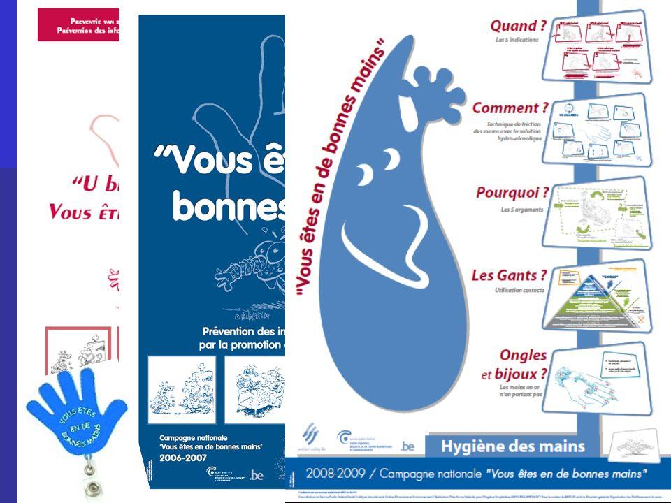 National surveillance program MRSA –Acute hospitals – National surveillance program Reco MRSA 1ère Campagne Groupe de gestion des AB 2de Campagne