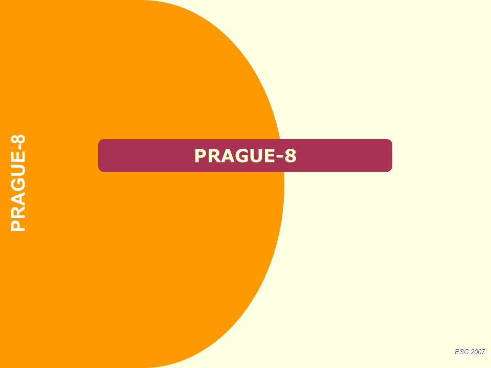 PRAGUE-8 ESC 2007 PRAGUE-8