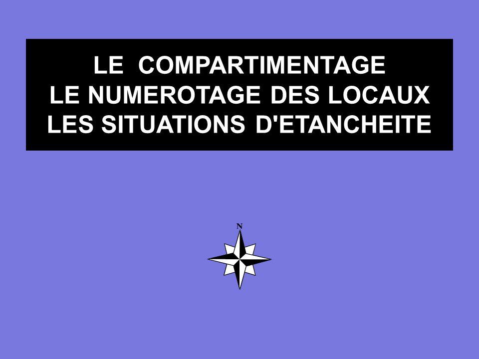 LE COMPARTIMENTAGE LE NUMEROTAGE DES LOCAUX LES SITUATIONS D'ETANCHEITE