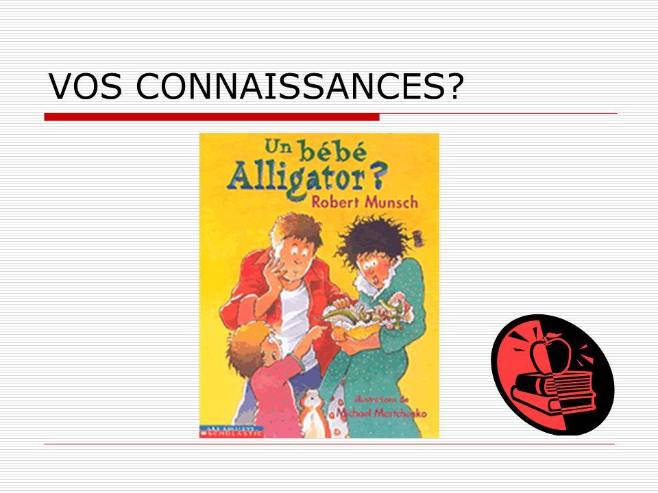 VOS CONNAISSANCES?
