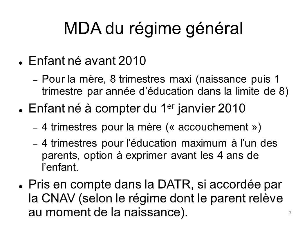 Majoration de pension Article L18 Pension majorée de 10% pour léducation de trois enfants (9 ans au moins jusquà 21 ans) ; majoration attribuée au plus tôt au 16 ème anniversaire du 3 ème enfant.