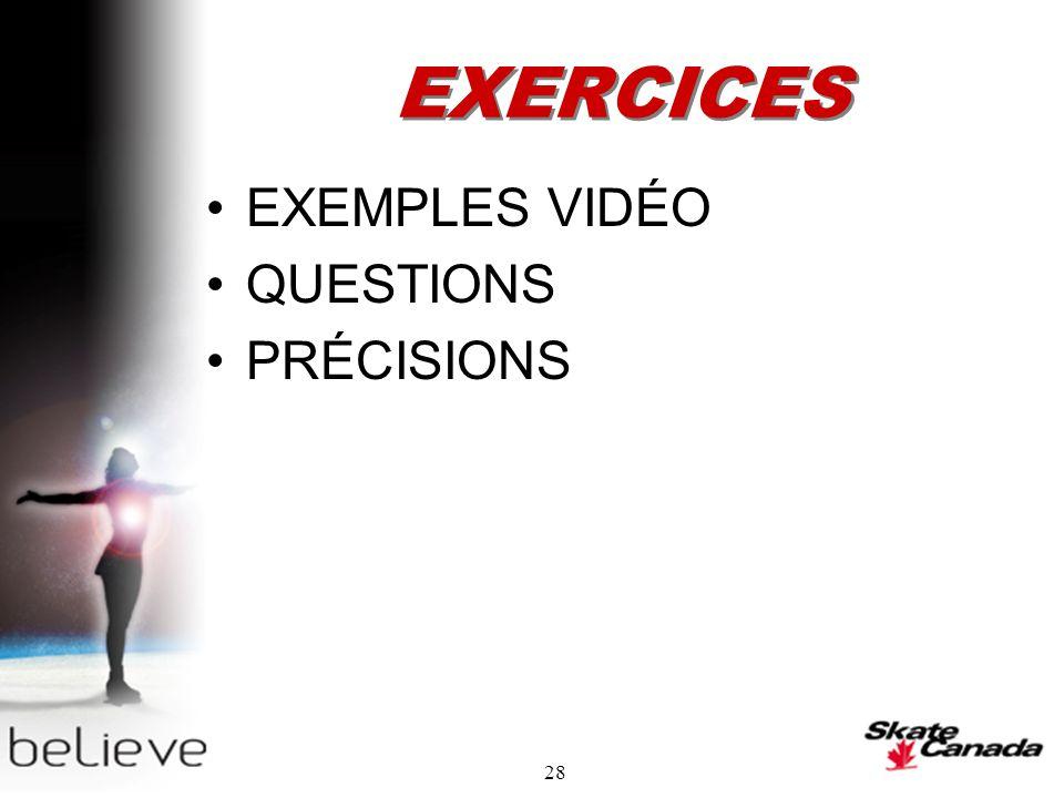 28 EXERCICES EXEMPLES VIDÉO QUESTIONS PRÉCISIONS