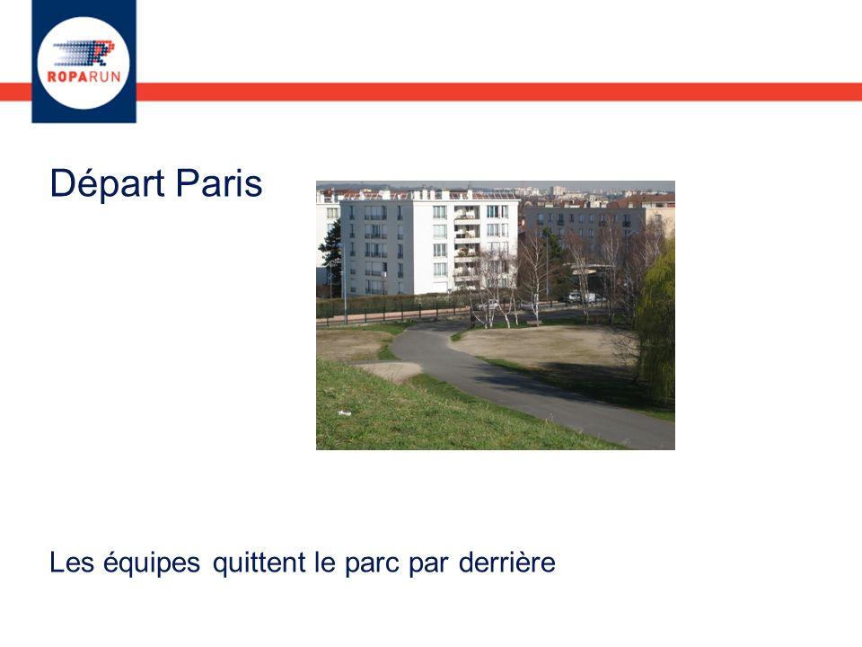Départ Paris Les équipes quittent le parc par derrière