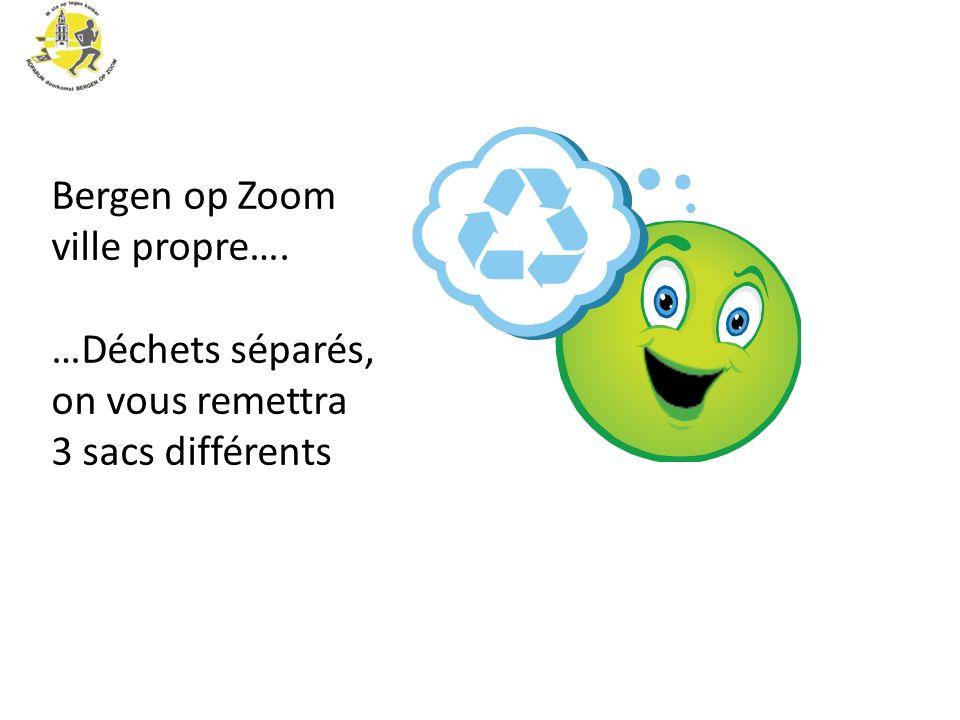 Bergen op Zoom ville propre…. …Déchets séparés, on vous remettra 3 sacs différents