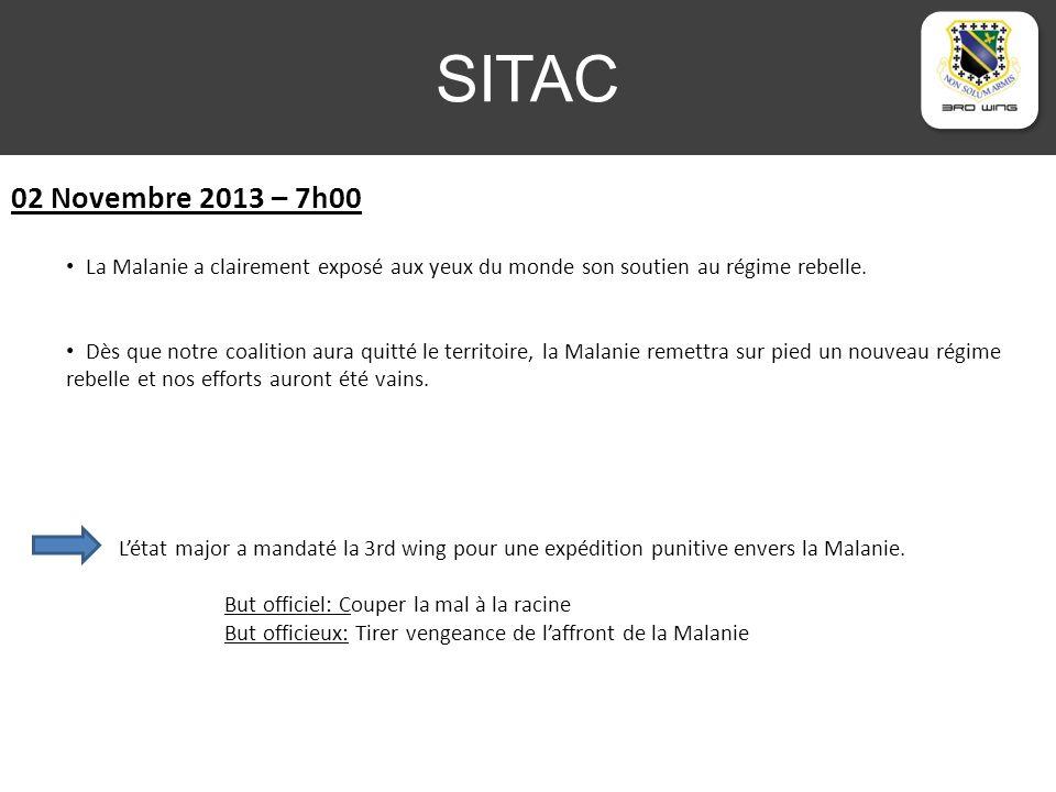 SITAC 02 Novembre 2013 – 7h00 La Malanie a clairement exposé aux yeux du monde son soutien au régime rebelle.