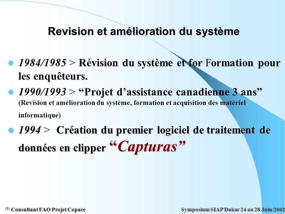 Demarage Système Statistique au Cap Vert 1981 > (Shimura) 1 Formulation et mise en place du Système (DGP avec appui du COPACE FAO) Methodologie de sui