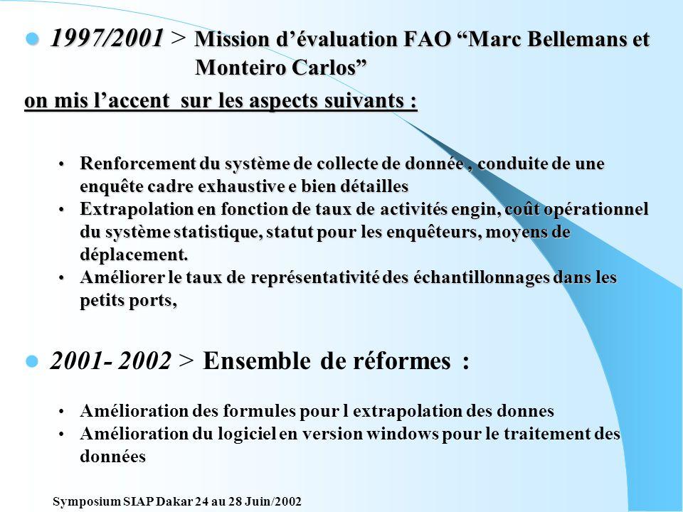 Revision et amélioration du système 1984/1985 > Révision du système et for Formation pour les enquêteurs. 1990/1993 > Projet dassistance canadienne 3