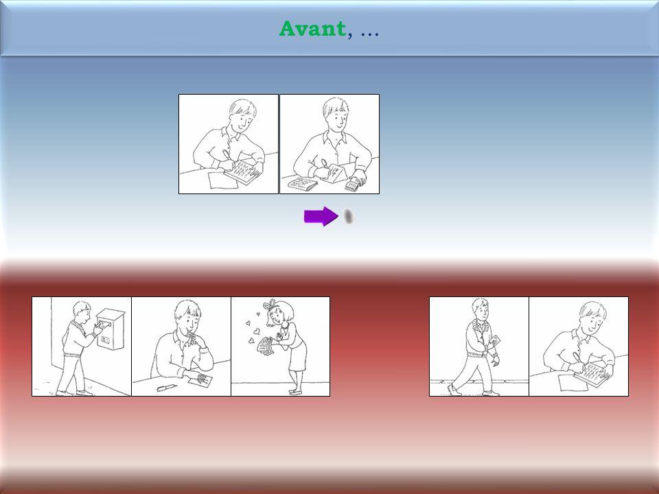 43 1M Maintenant, Antoine écrit ladresse sur lenveloppe. Maintenant, Antoine écrit ladresse sur lenveloppe.